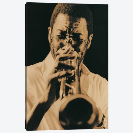Jazz Trumpet Player Vintage Canvas Print #7026} by Unknown Artist Canvas Print
