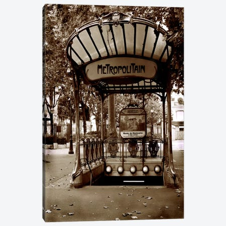 Metropolitain (Paris) Canvas Print #7030} by Christopher Bliss Art Print