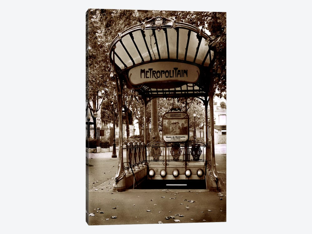 Metropolitain (Paris) by Christopher Bliss 1-piece Canvas Print