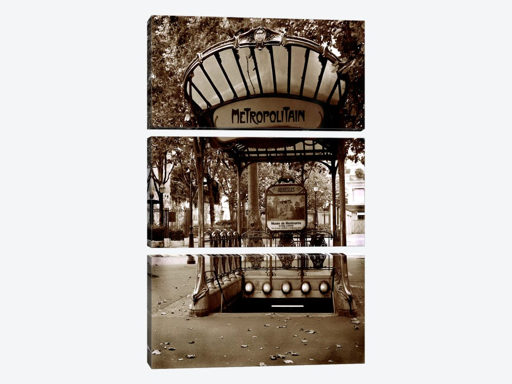 Metropolitain (Paris) by Christopher Bliss 3-piece Canvas Print