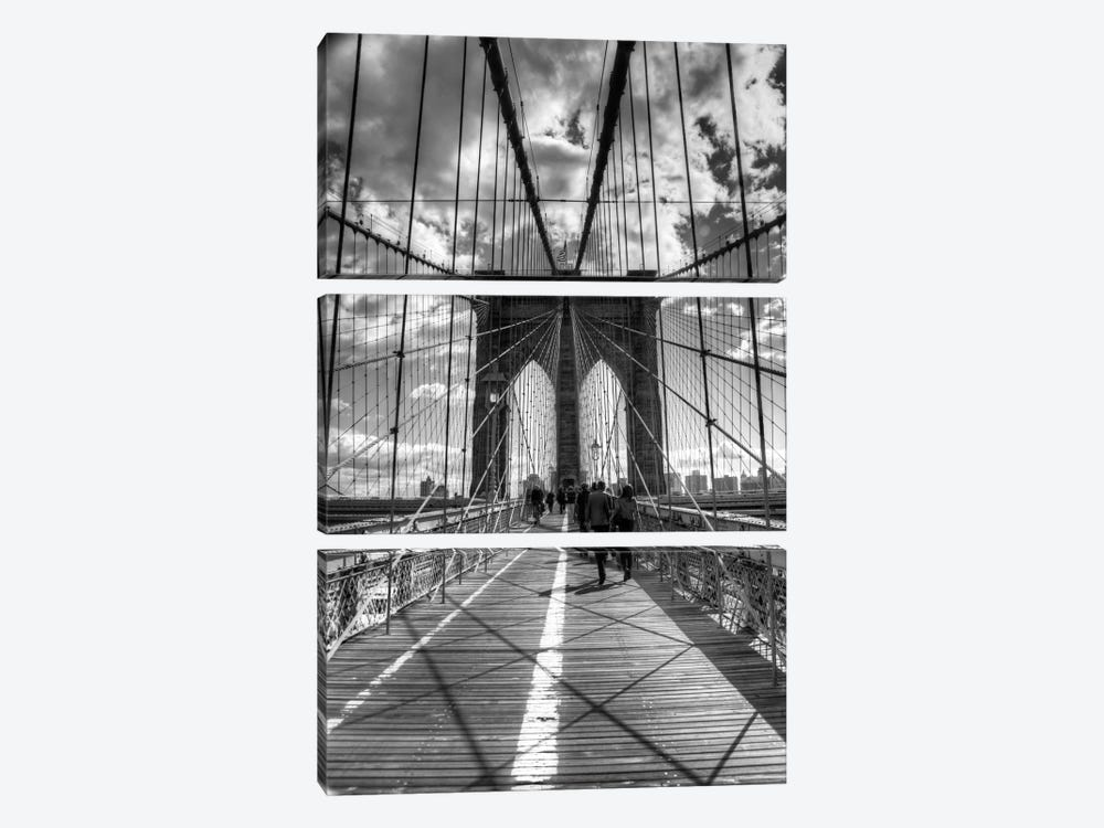 Brooklyn Bridge II (New York City) 3-piece Canvas Wall Art