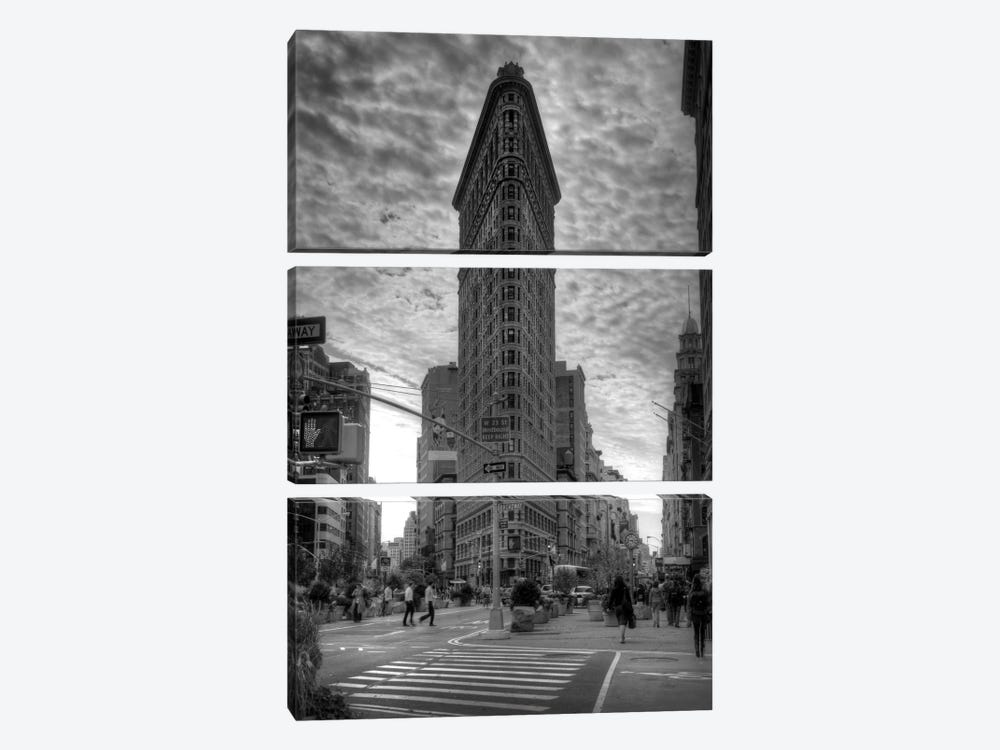 Flatiron Building (New York City) by Christopher Bliss 3-piece Canvas Print