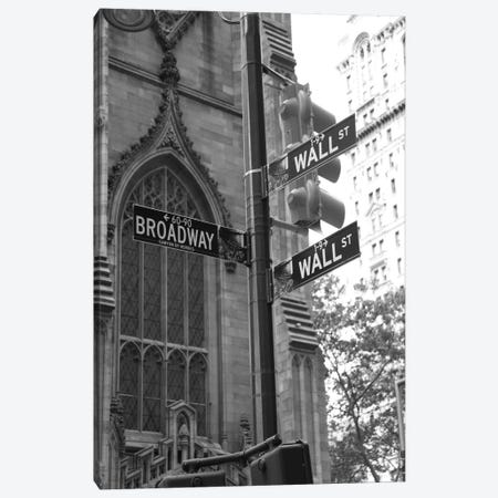 Wall Street Signs (New York City) Canvas Print #7033} by Christopher Bliss Art Print