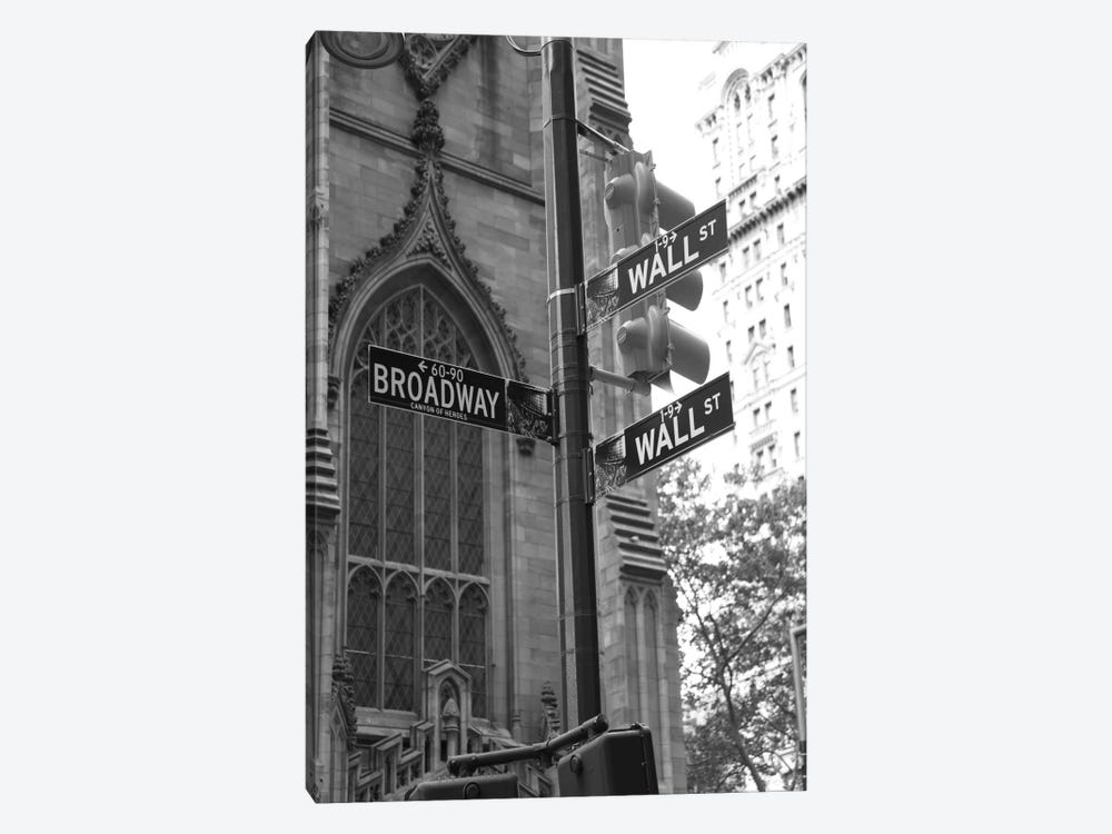 Wall Street Signs (New York City) by Christopher Bliss 1-piece Canvas Artwork