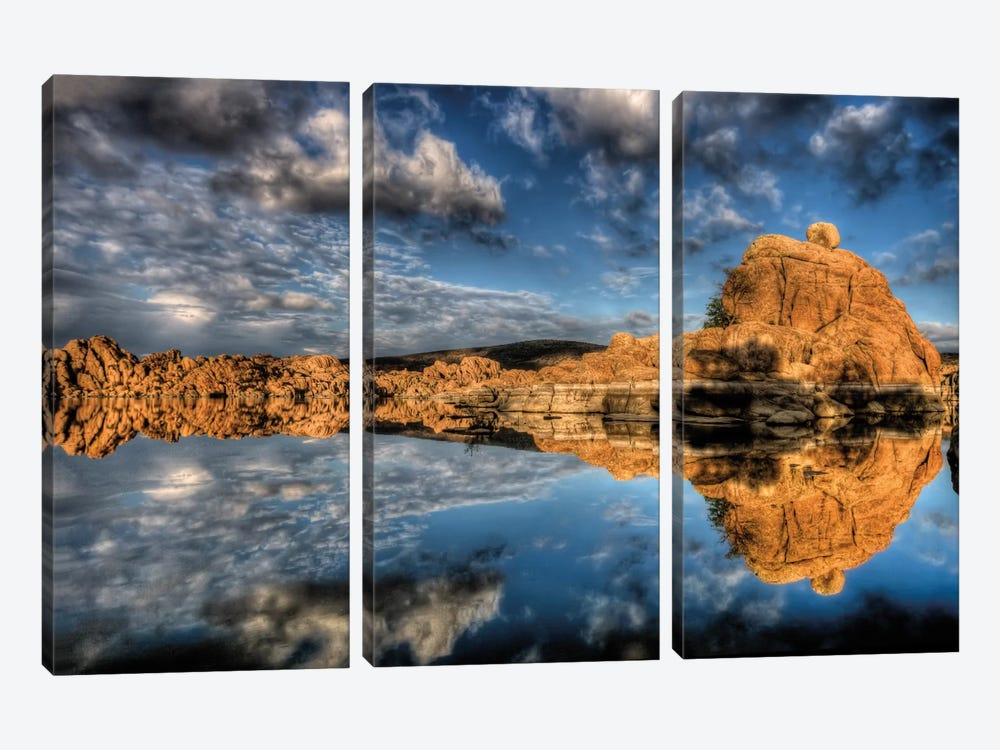 Sky vs. Sky I by Bob Larson 3-piece Canvas Print