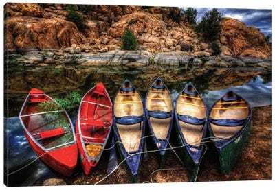 Canoe Color Canvas Art Print