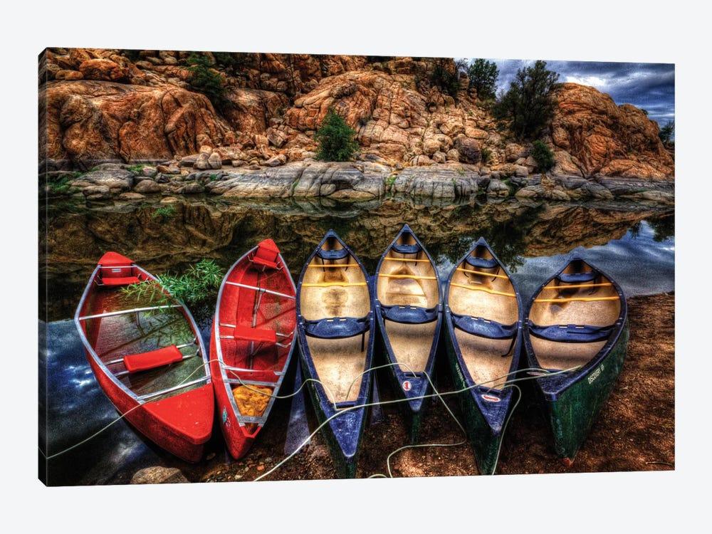 Canoe Color by Bob Larson 1-piece Canvas Art