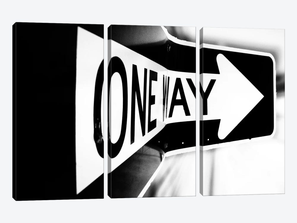 Which Way (One Way) by Bob Larson 3-piece Canvas Art Print