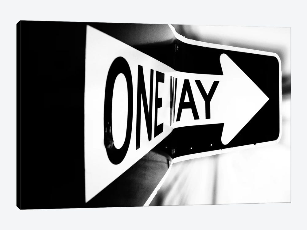 Which Way (One Way) by Bob Larson 1-piece Canvas Print