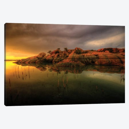 Willow Lake Rock Wide I Canvas Print #7046} by Bob Larson Canvas Print