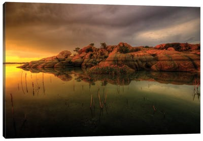 Willow Lake Rock Wide I Canvas Art Print