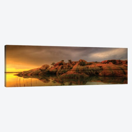 Willow Lake Rock Wide II Canvas Print #7047} by Bob Larson Canvas Art Print