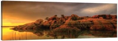 Willow Lake Rock Wide II Canvas Art Print