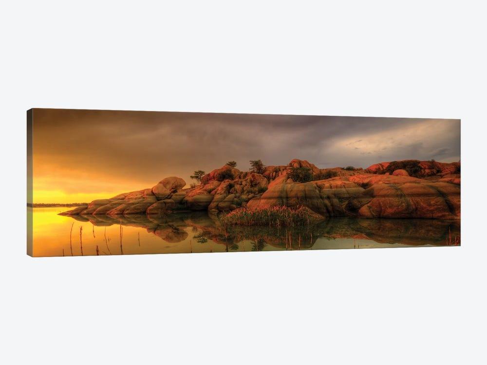 Willow Lake Rock Wide II by Bob Larson 1-piece Art Print