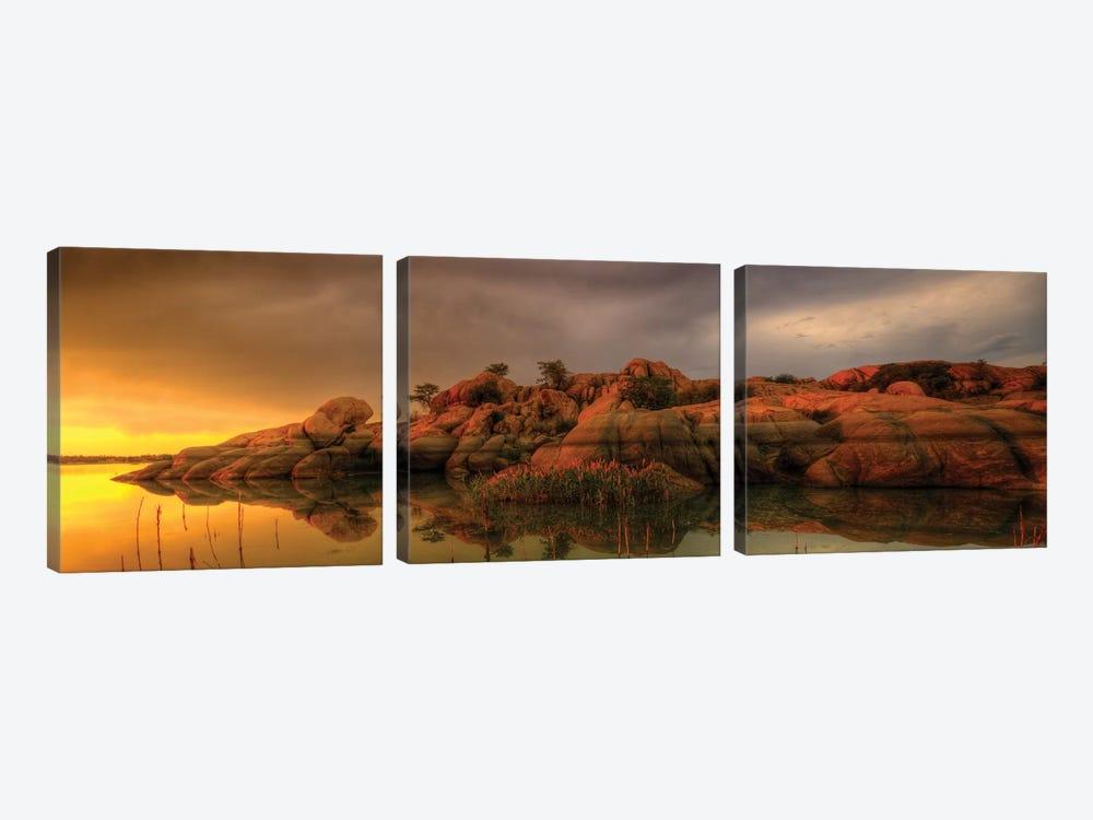 Willow Lake Rock Wide II by Bob Larson 3-piece Art Print