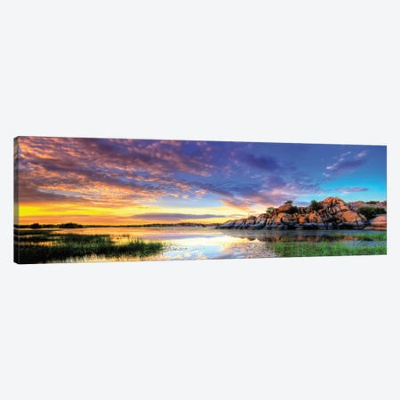 Willow Lake Spring Sunset Canvas Print #7051} by Bob Larson Art Print
