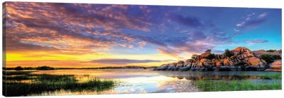 Willow Lake Spring Sunset Canvas Art Print