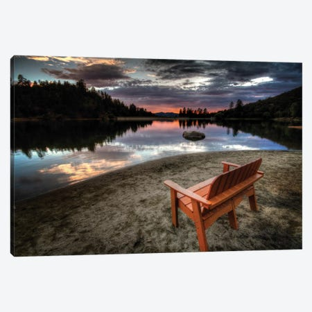A Bench with a View Canvas Print #7052} by Bob Larson Art Print