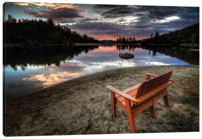 A Bench with a View Canvas Art Print