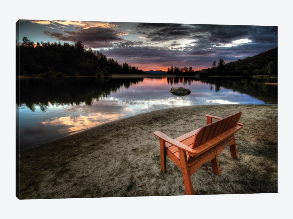 A Bench with a View by Bob Larson 1-piece Canvas Print