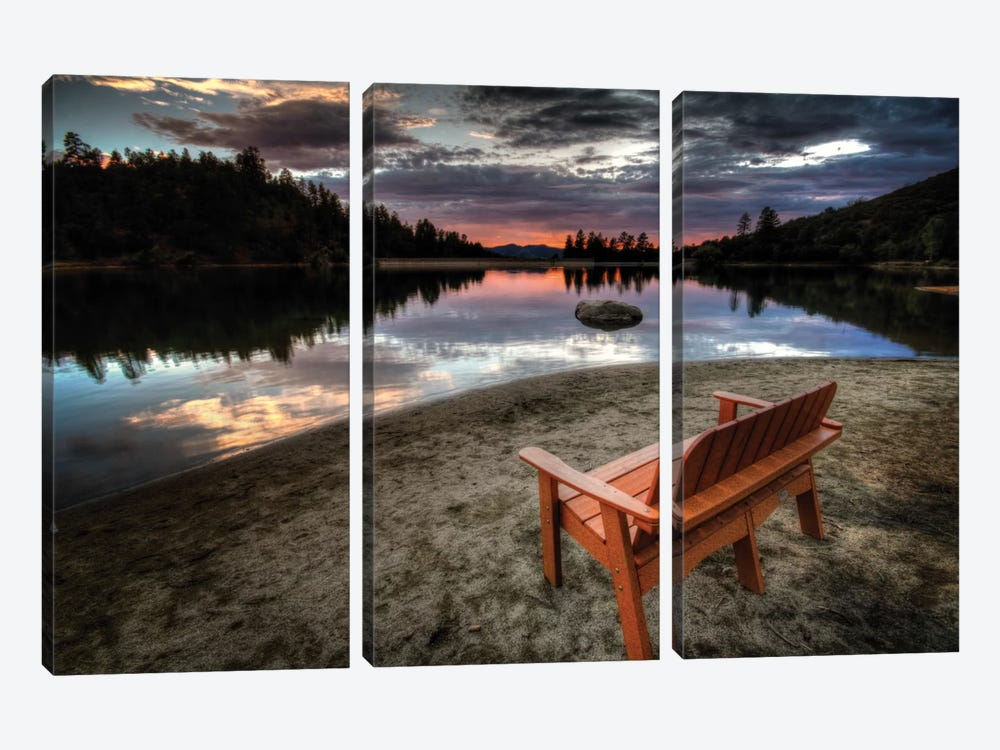 A Bench with a View by Bob Larson 3-piece Art Print