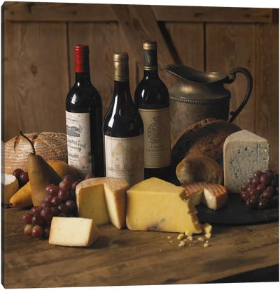 Wine & Cheese Canvas Art Print