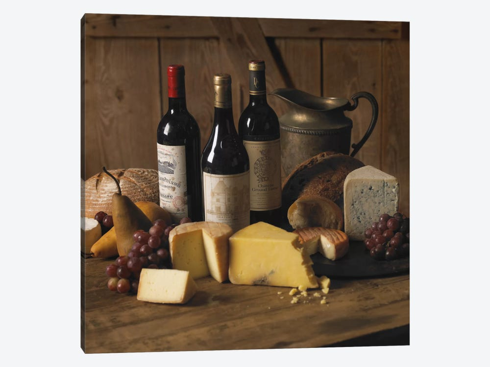 Wine & Cheese 1-piece Canvas Art