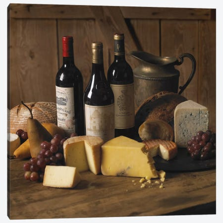 Wine & Cheese Canvas Print #7053} by Michael Harrison Canvas Art Print