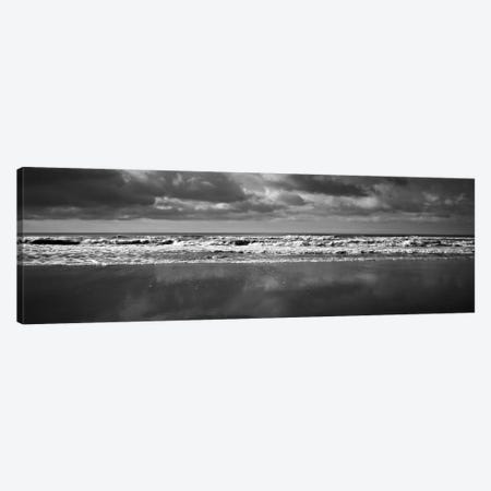 Ocean (Black & White) Canvas Print #7055} by Michael Harrison Canvas Artwork