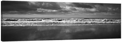 Ocean (Black & White) Canvas Print #7055