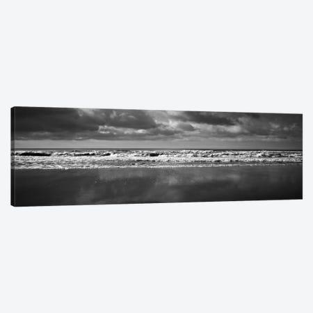 Ocean (Black & White) Canvas Print #7055} by Michael Harrison Canvas Artwork
