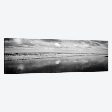 Beach (Black & White) Canvas Print #7056} by Michael Harrison Canvas Wall Art