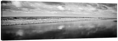 Beach (Black & White) Canvas Art Print