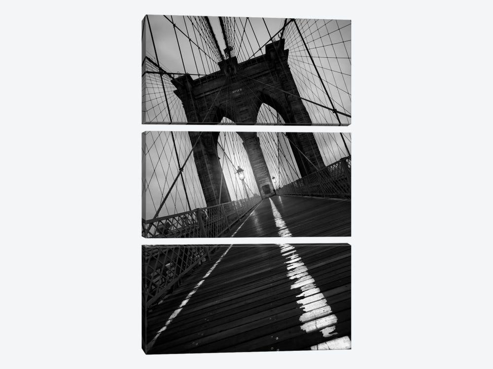 Brooklyn Bridge Study I by Moises Levy 3-piece Canvas Artwork