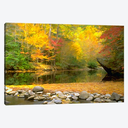 Little River Canvas Print #7079} by J.D. McFarlan Art Print