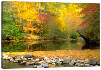 Little River Canvas Art Print
