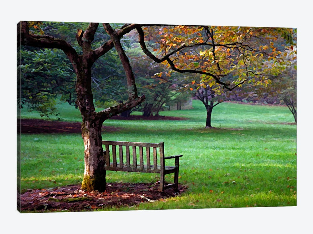 Place to Sit by J.D. McFarlan 1-piece Canvas Art Print