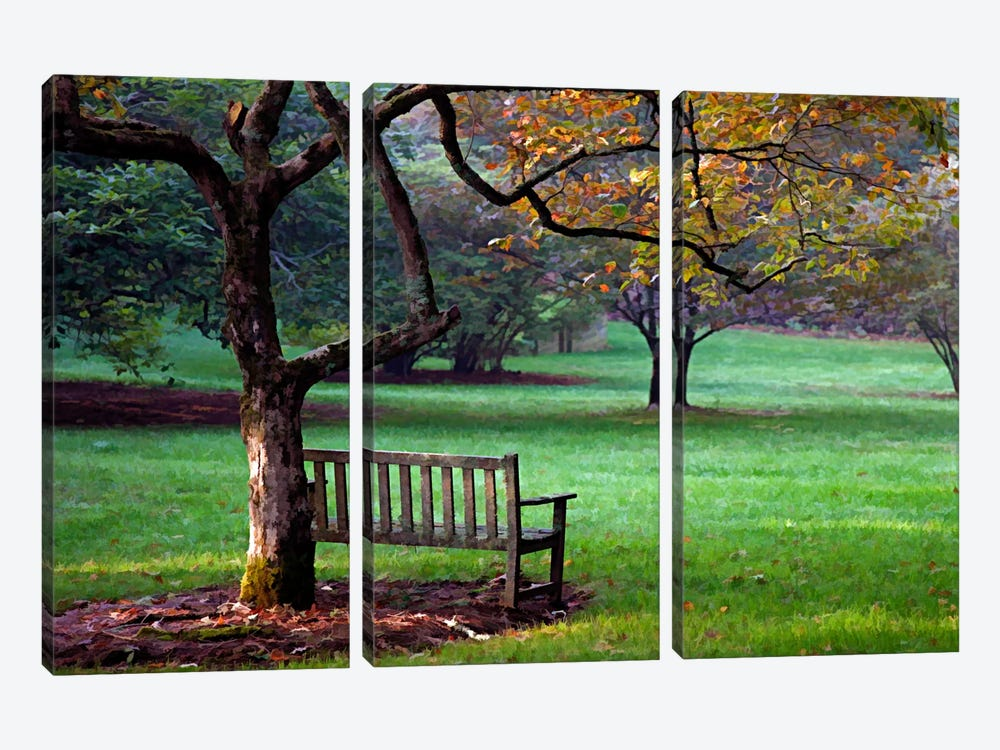 Place to Sit by J.D. McFarlan 3-piece Canvas Art Print