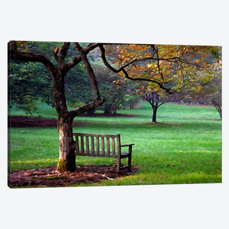 Place to Sit Canvas Print #7081} by J.D. McFarlan Canvas Art