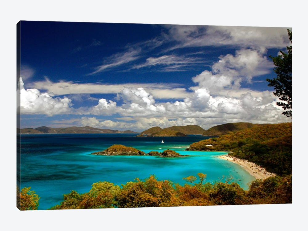 Trunk Bay by J.D. McFarlan 1-piece Canvas Print