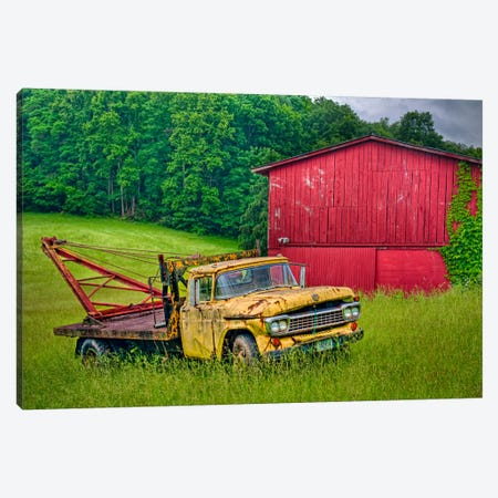 Truck in Weeds Canvas Print #7096} by Bob Rouse Canvas Art