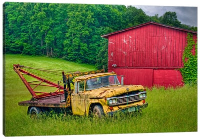 Truck in Weeds Canvas Art Print