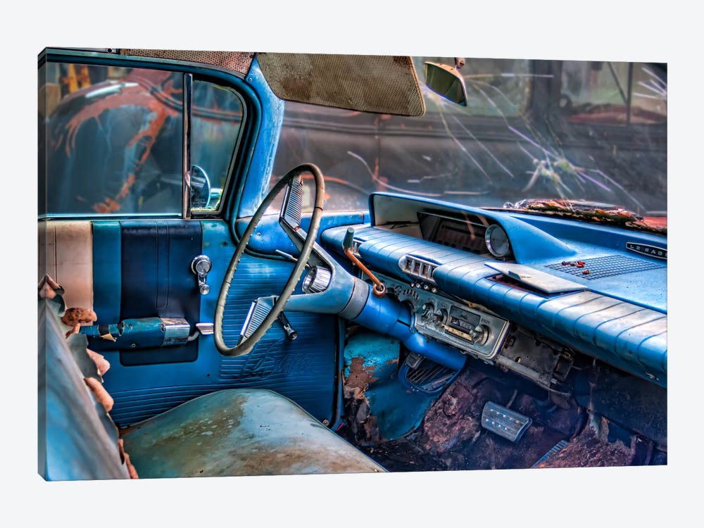 60 buick lesabre interior by Bob Rouse 1-piece Canvas Artwork