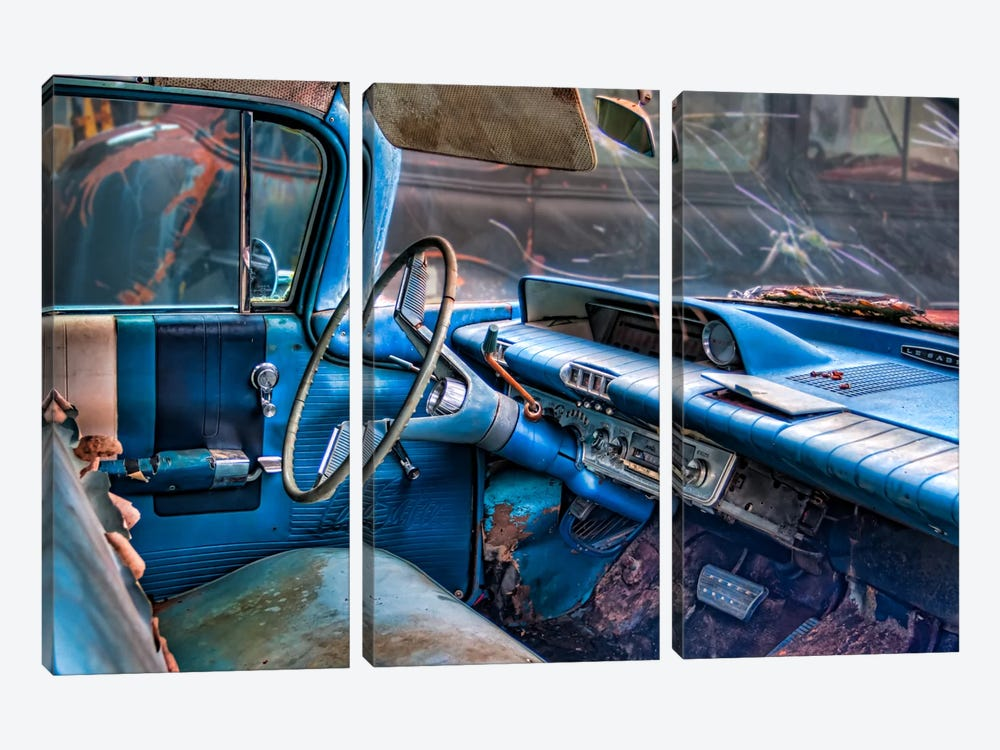 60 buick lesabre interior by Bob Rouse 3-piece Canvas Wall Art