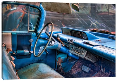 60 Buick LeSabre Interior Canvas Art Print