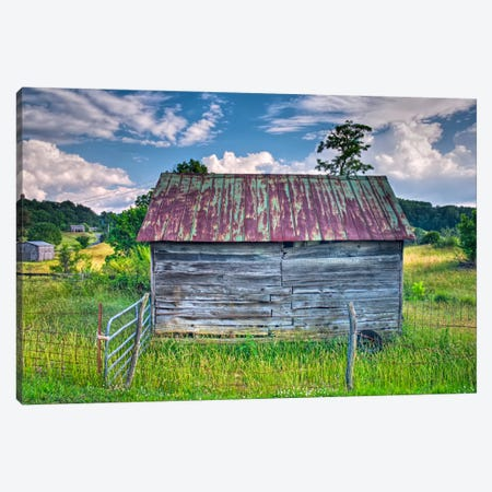 Small Barn Canvas Print #7098} by Bob Rouse Canvas Print