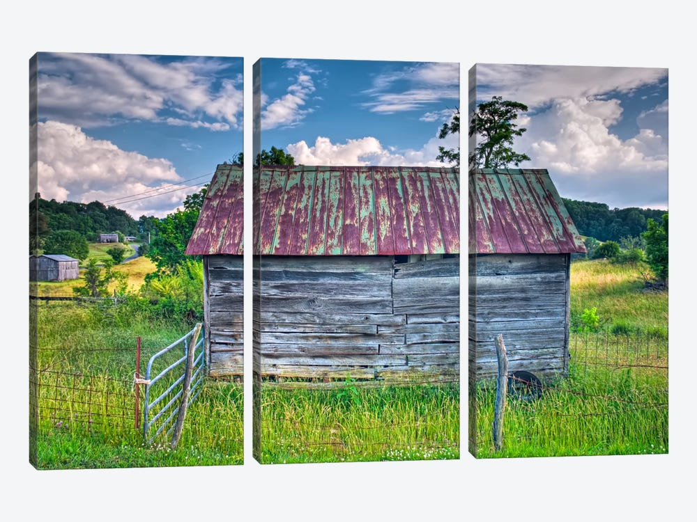 Small Barn by Bob Rouse 3-piece Art Print