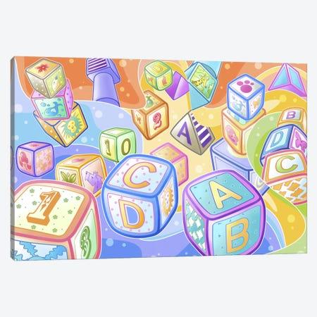 Toy Blocks Canvas Print #7104} by Unknown Artist Canvas Art