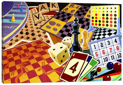 Board Games Canvas Art Print