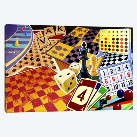 Board Games Canvas Print #7108} by Unknown Artist Canvas Art Print